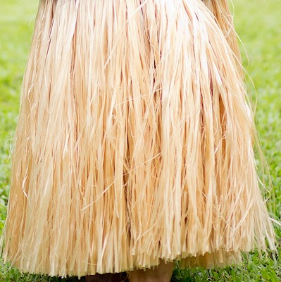 TAHITIAN HAU SKIRT (MORE') - NATURAL